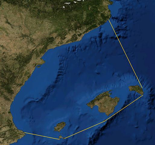 Satellitenfoto Balearisches-Meer