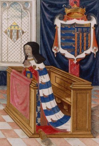 Marie de St Pol - Marie de Châtillon at prayer (Bibliothèque nationale de France)