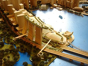 Scale model of the development (together with ...