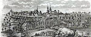 Johann Grüninger - Ink drawing of Markgröningen by Jakob Gottfried