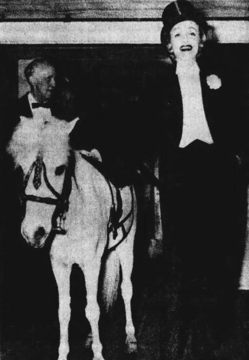Marlene Dietrich April in Paris Ball 1959