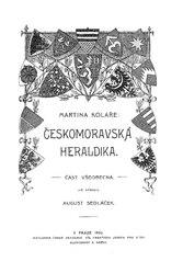 Martin Kolář: Českomoravská heraldika
