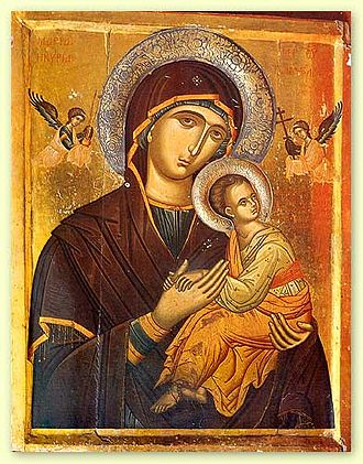 Madonna (art) - Our Mother of Perpetual Help, Icon of the Virgin Mary, 16th century. St. Catherine's Monastery in the Sinai.