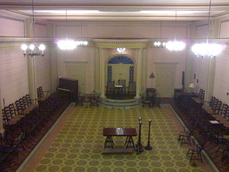 New World Order (conspiracy theory) - A Masonic Lodge room