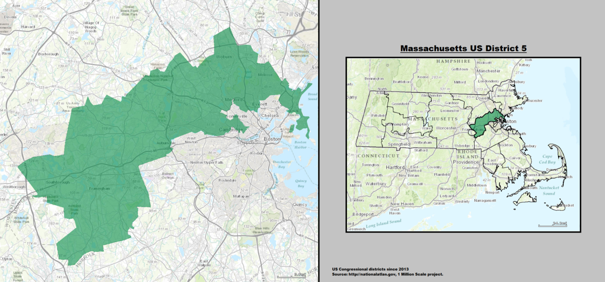 Massachusettss Th Congressional District Wikipedia - Massachusetts us house of representatives district map