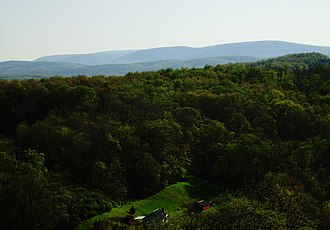 Blair Township, Blair County, Pennsylvania - Looking southwest from Chimney Rocks, immediately south of Hollidaysburg