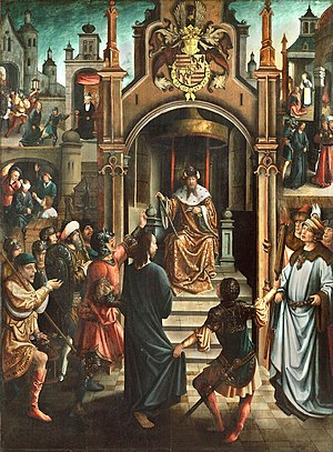 Christ before Pilate, with Christ Led to Annas, the Mocking of Christ, the Denial by Peter, and Christ before Caiaphas