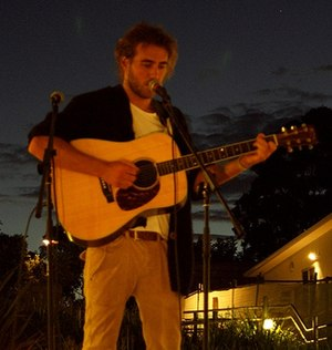 Matt Corby - Corby performing in Hamlyn Terrace in 2012