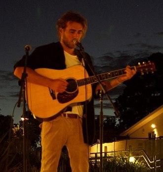 Matt Corby - Corby performing in Hamlyn Terrace in 2012