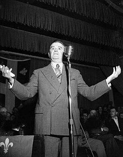 Maurice Duplessis former Premier of Quebec
