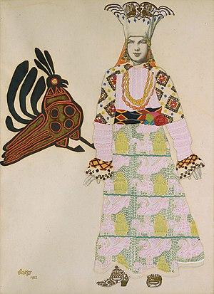 Mavra - Sketch of a costume by Léon Bakst
