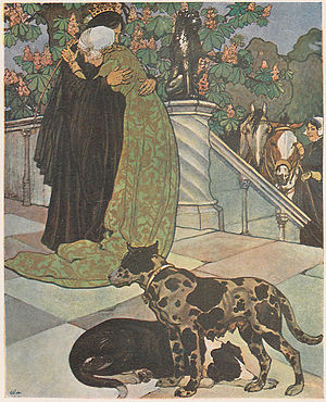 Maximilian Liebenwein - From The Goose Girl, published in Ver Sacrum in 1902