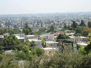 Maxwell Park, Oakland, California - A view over Maxwell Park