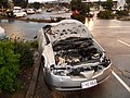 May 2011 Albany, NZ tornado- crushed car.jpg
