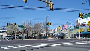 U.S. Route 13 - The intersection of U.S. 13 (Frankford Avenue) and PA 73 (Cottman Avenue) in Northeast Philadelphia
