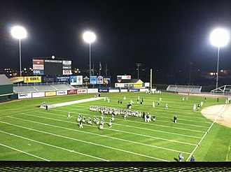 McCoy Stadium - The football field inside McCoy Stadium