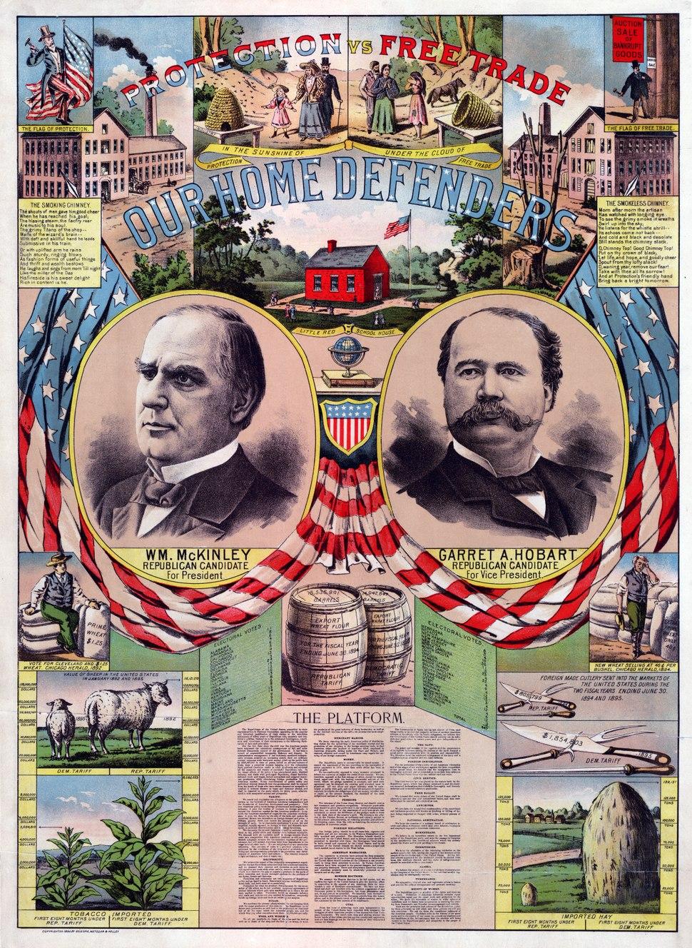 1896 Republican Campaign Poster