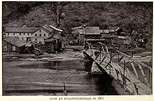 McClintocksville, Pennsylvania - McClintocksville in 1862