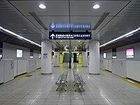 Meiji-jingumae station Fukutoshin Line platform.jpg