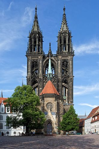 Meissen Cathedral - Meissen Cathedral, western facade with Prince's Chapel