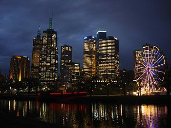 English: Melbourne Central Business District (...
