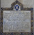Memorial to Thomas Scott Holmes in Wells Cathedral.jpg