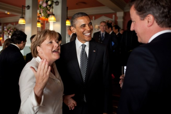 Merkel Obama Cameron G8 2011