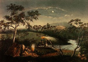 History of Melbourne - Aborigines on Merri Creek by Charles Troedel