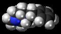 Methylbenzylpiperazine molecule spacefill.png
