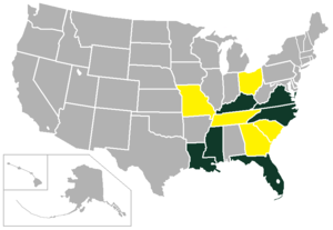Metro Conference - Image: Metro Conference USA states