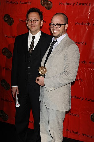 Lost (TV series) - Michael Emerson and Damon Lindelof at the 68th Annual Peabody Awards for Lost