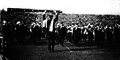 Michigan Marching Band performs Yellow and Blue at halftime of the Chicago game, 1920.png