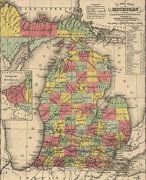 Timber pirate - An 1853 map, timber pirates devastated the United States Navy lumber reserves along the Michigan coast.