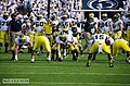 Michigan offense warms up before Penn State 2013 game.jpg