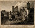 Micklegate Bar, Hospital of St. Thomas, York, England. Engra Wellcome V0014644.jpg