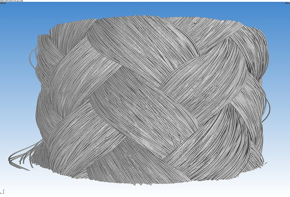 Micro-CT braided polymer rope 3D 02