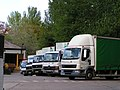 Mid Devon recycling lorries at Silverton Mill - geograph.org.uk - 1276910.jpg