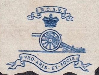 1st Midlothian Artillery Volunteers - Letterhead crest for the 1st Midlothian Coast Artillery Volunteers, c1890