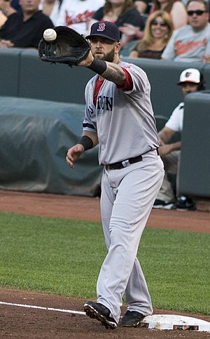 Mike Napoli - Napoli playing as a first time first baseman for the Boston Red Sox in 2013