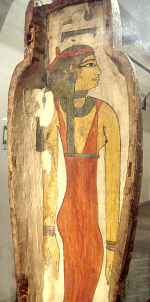 Nuit - Goddess Nut in sarcophagus