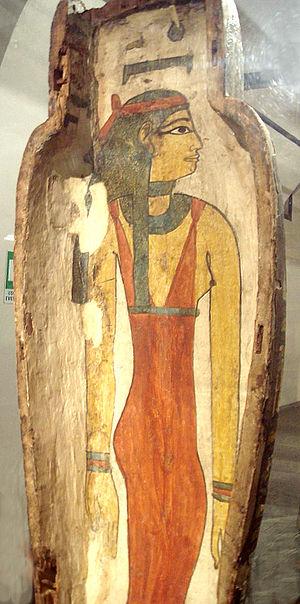 Nuit - Goddess Nut in sarcophagus