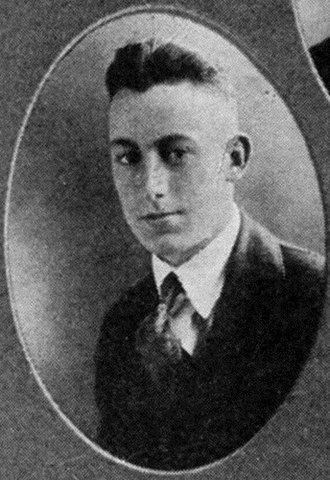 Milman Parry - Parry in his 1919 high school yearbook