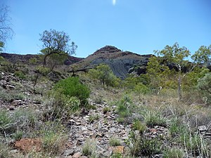 Wittenoom, Western Australia - Tailings from the mine near Wittenoom township