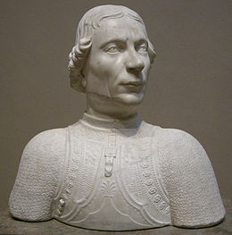 Busto di Astorre II Manfredi scolpito da Mino da Fiesole nel 1455, National Gallery of Art, Washington D.C.