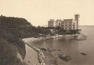 Miramare Castle - Miramare Castle, c. 1880