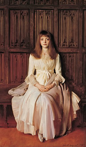 William Jackson Palmer - Miss Elsie Palmer, John Singer Sargent, painted at Ightham 1889-90