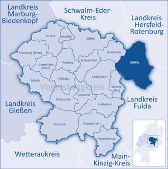 Schlitz, Hesse - Image: Mittelhessen Vogelsberg Sli