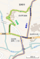 Miyazaki prefectural route 27 Multiple route section (OpenStreetMap).png