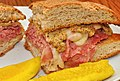Mmm... corned beef with Swiss on rye (6128503170).jpg