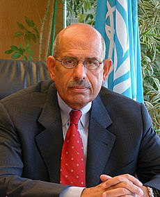 Pro-democracy activist Mohamed ElBaradei in 2005. Image: Sanao.